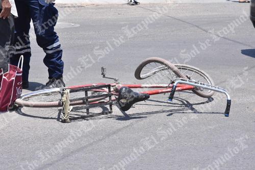 """Atropella """"vehículo fantasma"""" a ciclista de la tercera edad"""