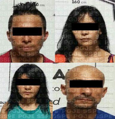 Capturan a 4 personas, con rifle AR15, cartuchos y droga