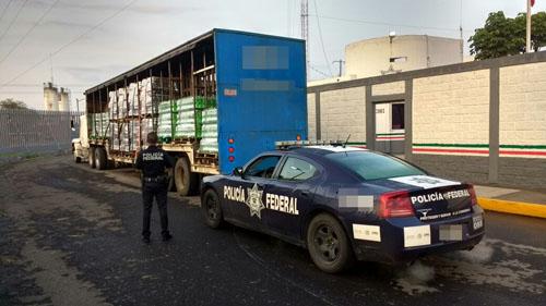 Recupera Policía Federal carga robada de refrescos