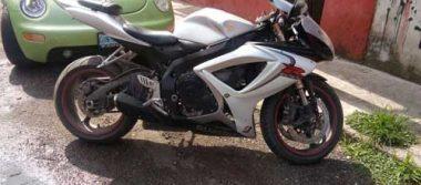 Recupera policía motocicleta robada