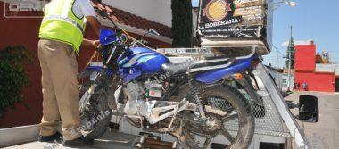 Resulta lesionado motociclista en accidente vial