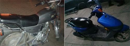 Recupera policía tres motocicletas y una camioneta robada