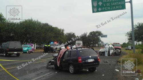 Carambola vehicular deja dos muertos y una lesionada