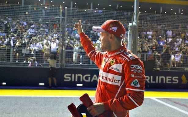 Sebastian Vettel se lleva la pole en Gran Premio de Singapur