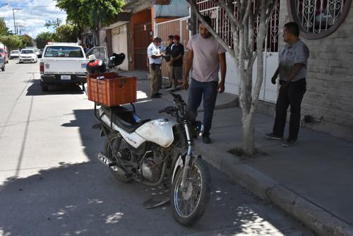 Sufre motociclista atropello y resulta lesionado