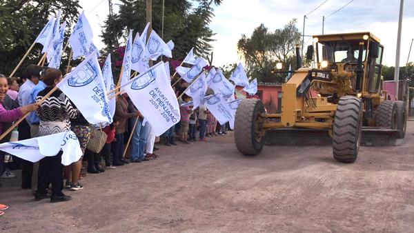 Arrancan rehabilitación de camino de acceso en Estación La Piedad