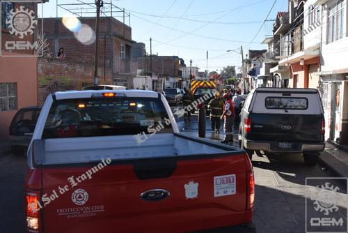 Flamazo de cilindro causa destrozos en vivienda de la col Miguel Hidalgo