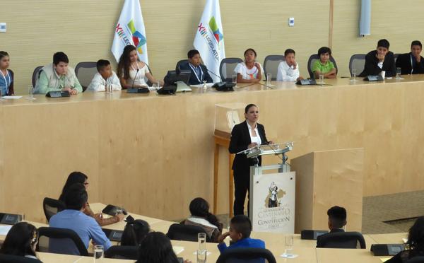 Legisladores infantiles hacen historia: Maru