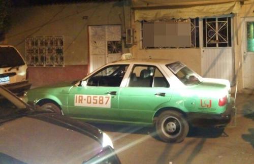 Recupera policía taxi robado en la colonia La Perdida