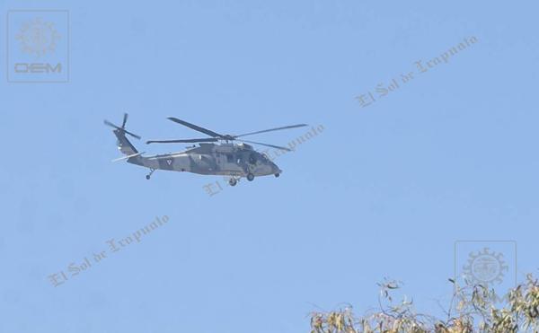 Helicóptero de la Marina nuevamente sobrevuela cielo fresero