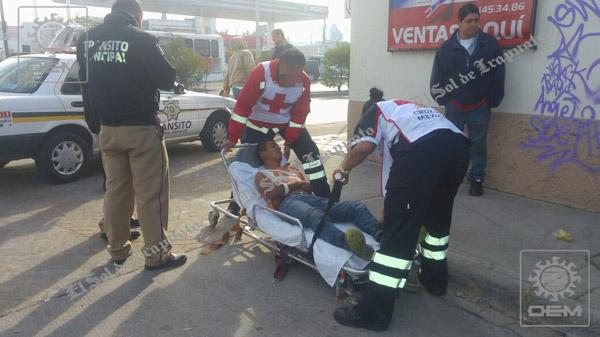Ciclista resulta lesionado en atropello
