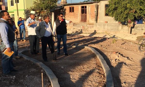 Avanza construcción de Plaza Pública en Buena Vista de Cortés