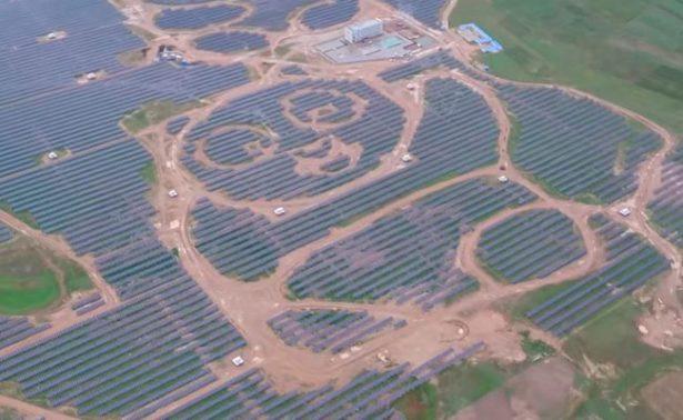 China busca desarrollar gigantescas plantas solares ¡en forma de panda!