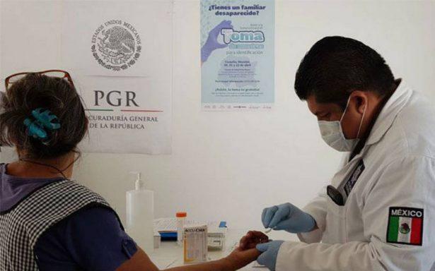 Van 524 muestras genéticas recabadas por PGR de familiares de desaparecidos