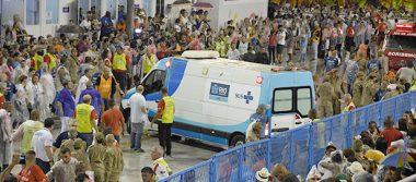 Carroza pierde control y deja ocho heridos en Sambódromo de Río de Janeiro