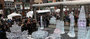 Con esculturas de hielo celebra Canadá a su constitución