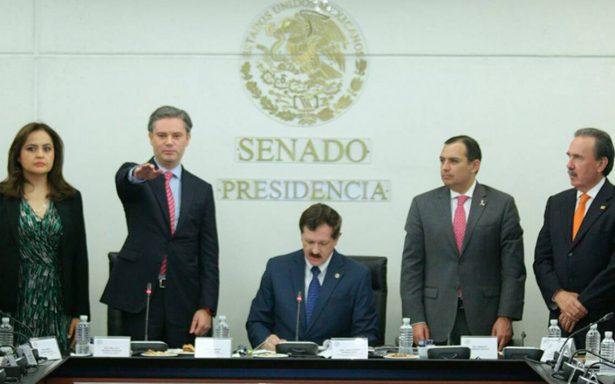 Aurelio Nuño rinde cuentas ante el Senado tras reconstrucción de escuelas
