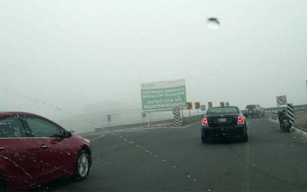 Neblina afecta al Circuito Mexiquense