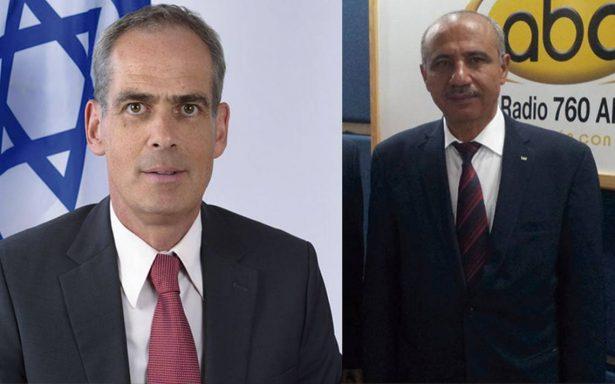Desacuerdos entre los embajadores de Israel y Palestina en México
