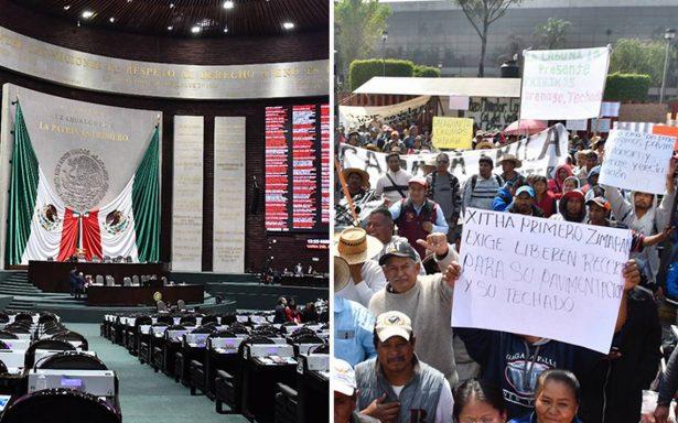 Campesinos mantienen plantón en San Lázaro mientras se decide presupuesto 2018