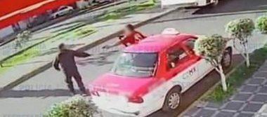 [Video] Taxista roba pistola a policía que intentaba detenerlo por asalto