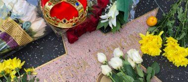 Fans dicen adiós a Aretha Franklin en el Paseo de la Fama