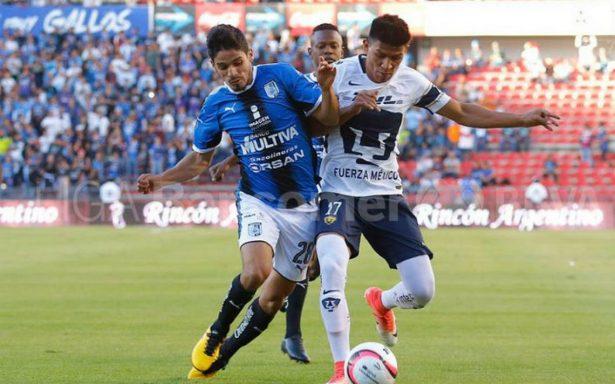 Pumas termina sotanero en Apertura 2017 tras empate con Gallos Blancos