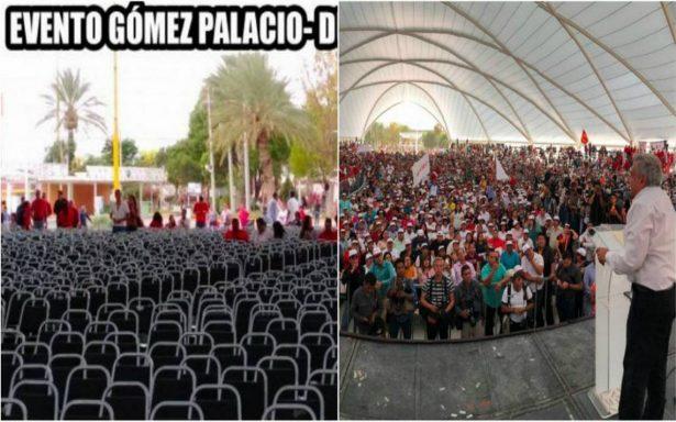"""Fracasa Evento AMLO"", fake news sobre López Obrador"