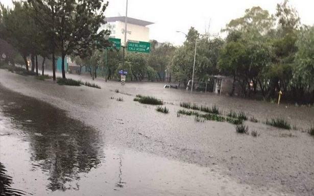 Lluvias colapsan el sur de la CDMX: afectaciones en Coapa, Xochimilco y Tlalpan
