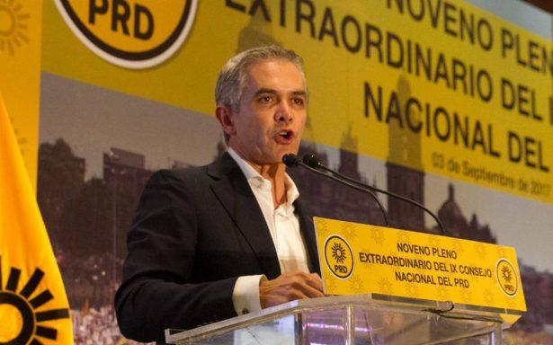 Mancera suma apoyos del PRD; buscan detener al PAN en el Frente