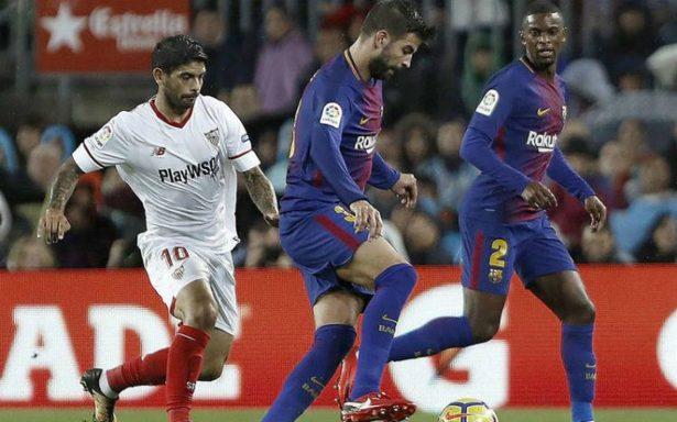 Un doblete de Alcácer salva al Barça en el partido 600 de Messi