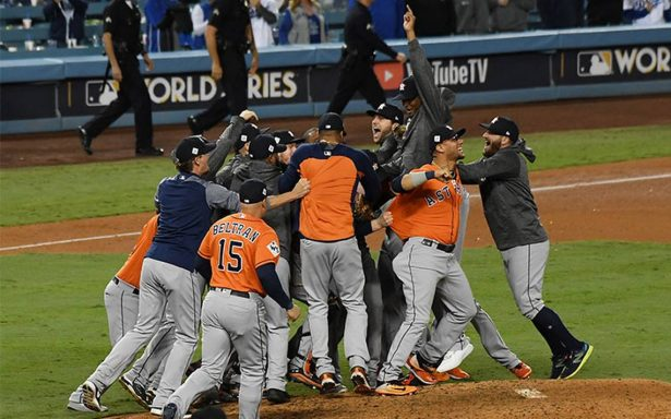 ¡Inédito! Astros vencen a los Dodgers y se coronan campeones en la Serie Mundial
