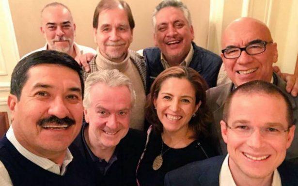 Panistas y perredistas se reúnen con líderes del Frente