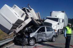 Se registra carambola en Autopista Arco Norte; al menos 9 heridos