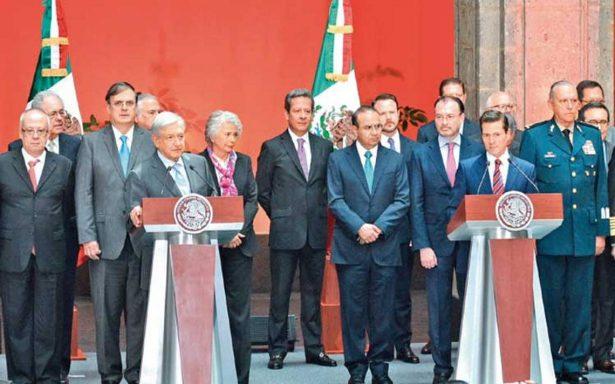 Alistan el cambio de estafeta entre  gabinetes de EPN y AMLO