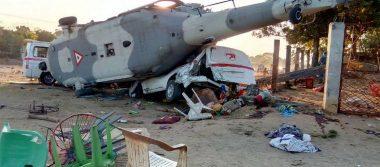 Helicóptero militar siguió protocolo, no hubo improvisación: Navarrete