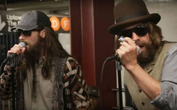 Maroon 5 sorprende de nuevo, ahora en el metro de Nueva York