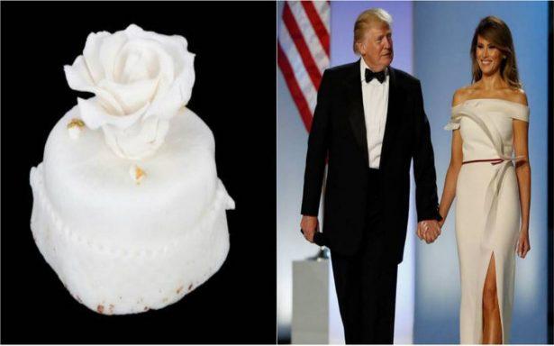 Venden rebanada de pastel de la boda de Trump con Melania ¡de hace 12 años!