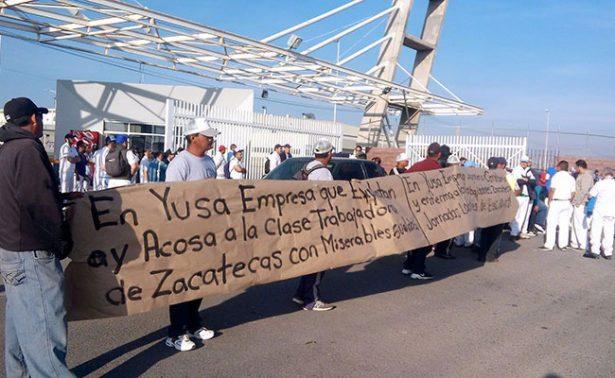 Protestan trabajadores de empresa japonesa en Zacatecas