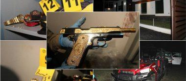 Catean finca en Cadereyta; decomisan más de 25 mdp en armas, relojes y animales exóticos