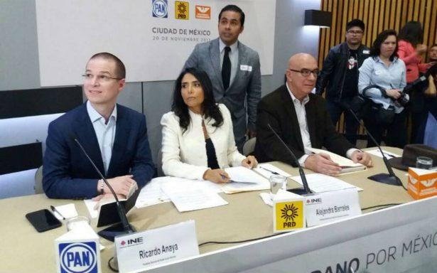 PRD quiere más candidaturas dentro del Frente; PAN busca mayoría