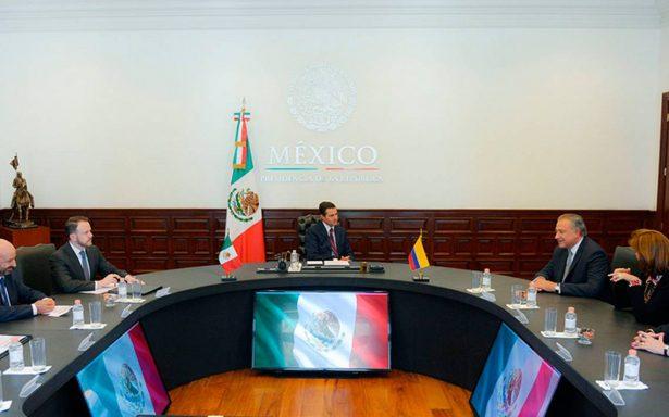 Peña Nieto aplaude proceso de paz en Colombia en reunión con vicepresidente Óscar Naranjo