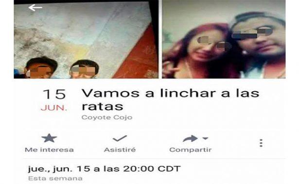 Convocan en Puebla a linchamiento masivo de criminales