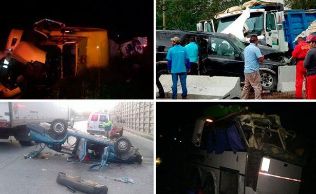 Día trágico: 5 accidentes graves en carreteras del país