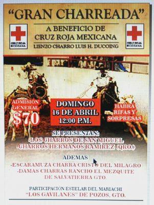 Organiza charreada Cruz Roja de SMA
