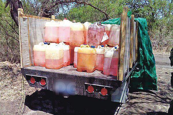 Aseguran mil litros de combustible robado
