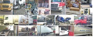 Aseguran tractocamiones y mercancía robada, en Celaya