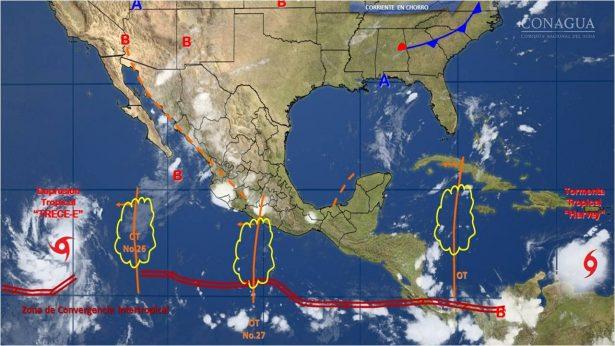 Se pronostican lluvias aisladas en el Estado de Guanajuato