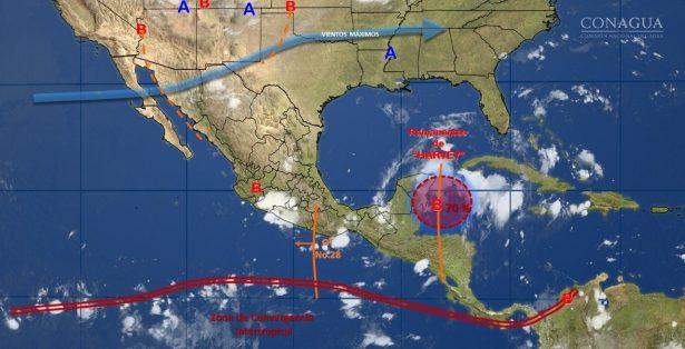 Probabilidad de lluvias hacia centro y sur de la entidad