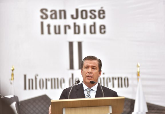 El respeto, la generosidad y la honestidad, harán un México de paz y armonía, dijo el Gobernador, Miguel Márquez Márquez, en el II Informe de Gobierno del Alcalde de San José Iturbide